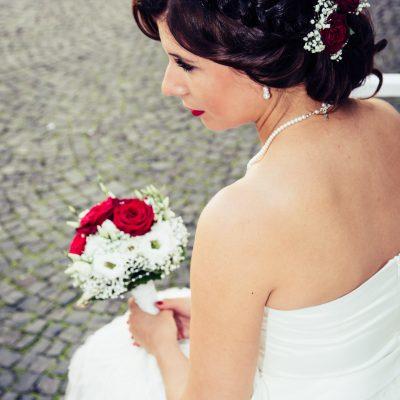 Yvonne als Wunderschöne Braut